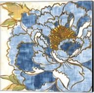 Camilles Peony II Indigo Fine-Art Print