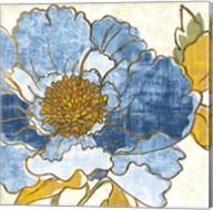 Camilles Peony I Indigo Fine-Art Print