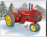 Christmas in the Heartland III Red Tractor Fine-Art Print