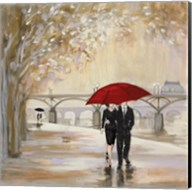 Romantic Paris III Red Umbrella Fine-Art Print