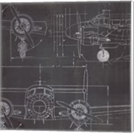 Plane Blueprint III No Words Post Fine-Art Print