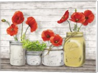 Poppies in Mason Jars (detail) Fine-Art Print