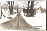 The Wintery Road Home Fine-Art Print