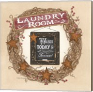 Laundry Room Wreath Fine-Art Print