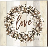 Love Cotton Wreath Fine-Art Print