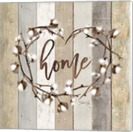 Home Cotton Wreath Fine-Art Print
