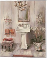 French Bath III Gray and Blush Fine-Art Print