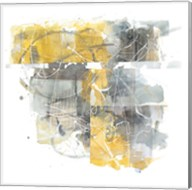 Moving in and Out of Traffic II Yellow Grey Fine-Art Print