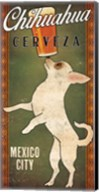White Chihuahua on Green Fine-Art Print