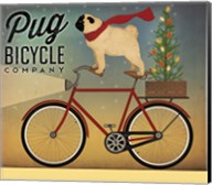 Pug on a Bike Christmas Fine-Art Print