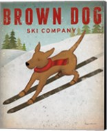 Brown Dog Ski Co Fine-Art Print