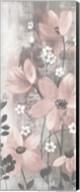 Floral Symphony Blush Gray Crop I Fine-Art Print