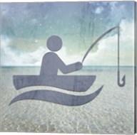 Beach Signs Fishing Fine-Art Print