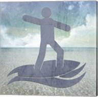 Beach Signs Surfer2 Fine-Art Print