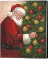 Santa with Ornaments Fine-Art Print