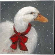 Goose Red Xmas Bow Fine-Art Print