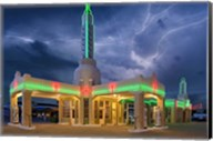 Rt 66 Shamrock Texas Conoco Lightning Fine-Art Print