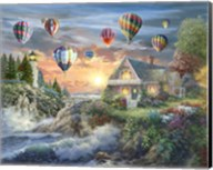 Balloons over Sunset Cove Fine-Art Print