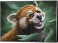 Red Panda Totem Fine-Art Print