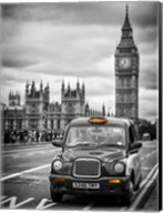 London Taxi and Big Ben - London Fine-Art Print