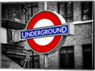 The Underground - Subway Station Sign Fine-Art Print