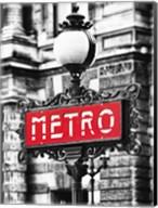 Metro Sign Paris Fine-Art Print