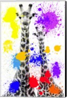 Safari Colors Pop Collection - Giraffes Fine-Art Print
