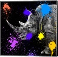 Safari Colors Pop Collection - Rhino Portrait Fine-Art Print