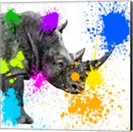 Safari Colors Pop Collection - Rhino Portrait II Fine-Art Print