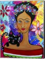 Frida And Her Cat Fine-Art Print