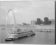 1960s St. Louis Missouri Gateway Arch Skyline Fine-Art Print