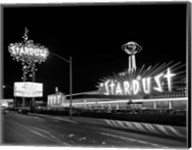 1960s Night Scene Of The Stardust Casino Las Vegas Fine-Art Print