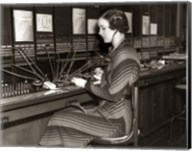 1930s Woman Telephone Operator Fine-Art Print