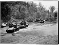 1940s World War Ii 12 Us Army Armored Tanks Fine-Art Print