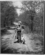 1950s Boy With Beagle Puppy Fine-Art Print