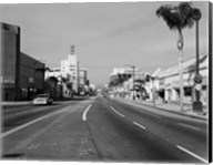 1960s Street Scene West Wilshire Blvd Los Angeles, California Fine-Art Print