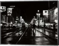 1950s Night Scene Canal Street New Orleans Louisiana Usa Fine-Art Print