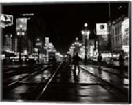 1950s Night Scene Canal Street New Orleans Louisiana Usa Fine-Art Print