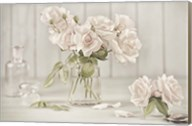 Vintage Roses in Antique Glass Fine-Art Print