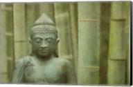 Bronze Buddha With Bamboo Fine-Art Print