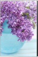 Lilacs in Blue Vase IV Fine-Art Print