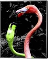 Flamingos Pink & Green Fine-Art Print