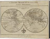 Map of the World Sepia Fine-Art Print