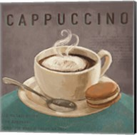 Coffee and Co I Teal and Gray Fine-Art Print