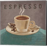 Coffee and Co III Teal and Gray Fine-Art Print