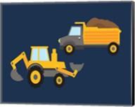 Construction Wash Brush Trucks Fine-Art Print