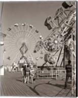 1960s Teens Looking At Amusement Rides Fine-Art Print