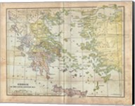 Vintage Greece Empire Map Fine-Art Print