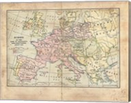Vintage Napoleon Empire Map Fine-Art Print