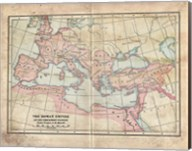Vintage Roman Empire Map Fine-Art Print